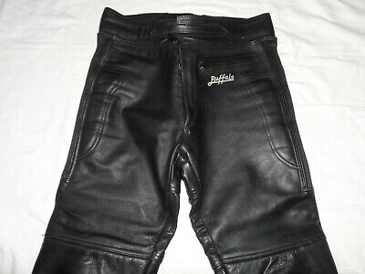 Buffalo Black Motorcycle Leather Trousers
