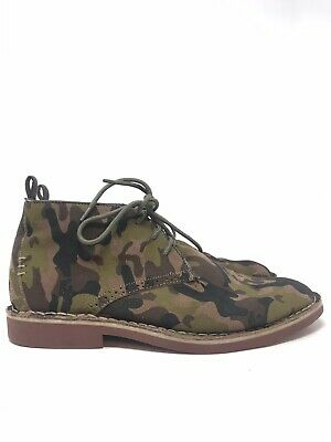 Gray By Saks Fifth Avenue Men's Size 9.5 Chukka Camo Boots Lace Up Dress Casual