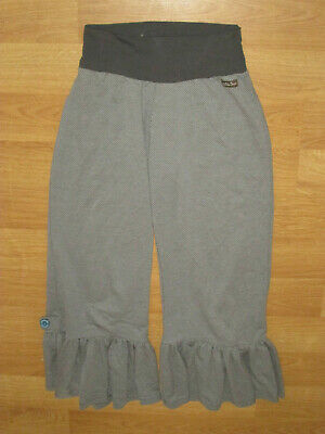 Matilda jane Women's Big Ruffle Pant Bottom  Grey Size small (BIN I)