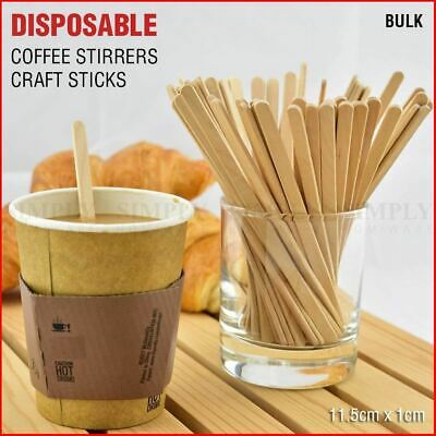 Bulk Coffee Stirrers Wooden Sticks Craft Paddle Pop Food Ice Cream Popsicle 11cm