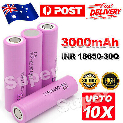 Rechargeable Lithium Battery 3000mAh For Samsung Genuine 18650 Li-ion Batteries