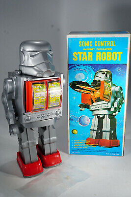 1970's Hong Kong Sonic Control Star Robot - alter Lagerfund in Box - MIB