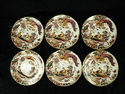 Royal Crown Derby Olde Avesbury A.73 Set Of 6 Bread & Butter Plates Exc Cond