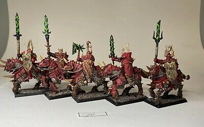 Warhammer AOS Slaves Darkness Chaos Knight Knights Matching Heads x 5 D I3 D