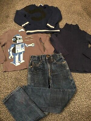 Boys Age 3-4 4 Years Bundle H&m Next Jeans Tops Jumper Robot