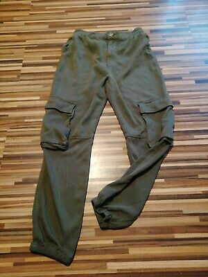 Lovely Girls H&M 12-13 Years W24-W26 L24 Khaki Pull Up Khaki Combat Trousers