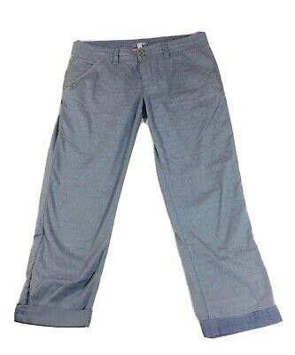 """Horny Toad Capri Cropped Pants Size 6 Gray  Women's Cotton 22"""" Inseam"""