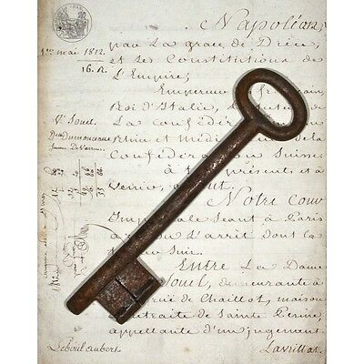 Large Antique French Key, 9 inches (23 cm)