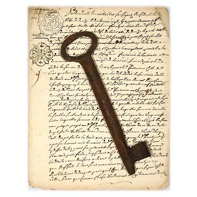 Large Antique French Key (7 7/8 inches - 20 cm)