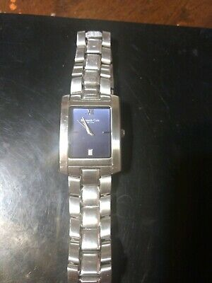 Kenneth Cole New York Watch Square Case Dial Mens Watch Steel Water Resistant