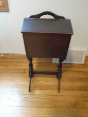 Antique Sewing Knitting Box / Cabinet / Stand /  Vintage  / Wood