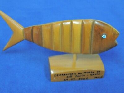 Carved Wooden Flexible Fish Decor