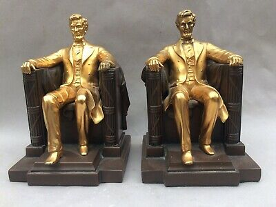 Johnson Brothers DC French Abraham Lincoln Memorial Bookends JB 2440
