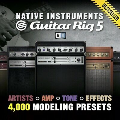 Native Instruments Guitar Rig 5 Pro - 4,000 Presets - Artists Amps & Effects
