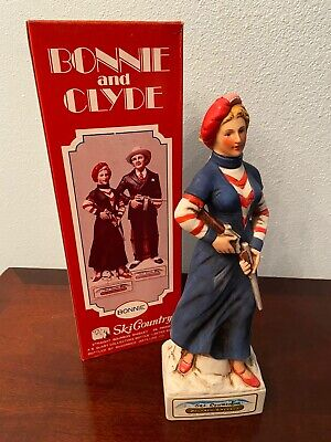 1974 Ski Country Bonnie & Clyde Series Bonnie Decanter with Box