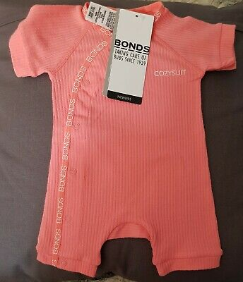 Bonds baby pink cozysuit in assorted sizes, new with free postage