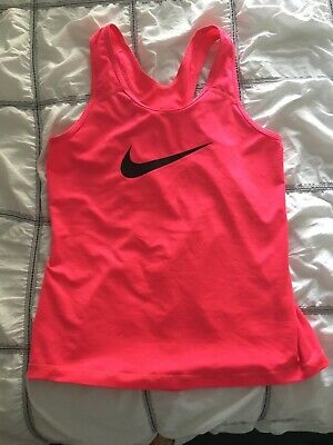 Nike Girls Dri Fit Sports Top. Size M - 8/9/10 Years. Excellent Condition