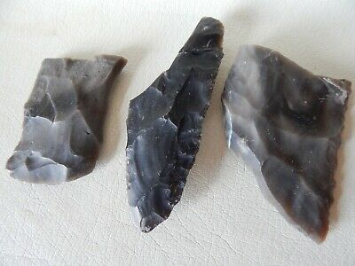 Neolithic Flint Stone Artefacts. 3 psc