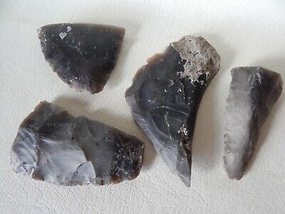 Neolithic Flint Stone Artefacts. 4 psc