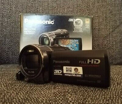 *Panasonic Hc-V700 Hd Video Camera Camcorder * Boxed With Original Accessories*