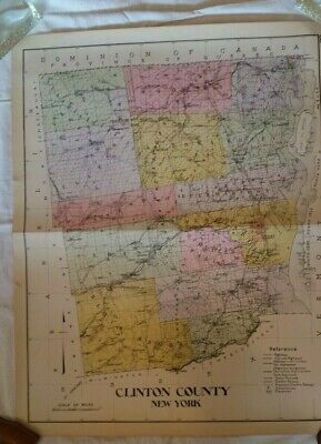 1911 Clinton County Map, New Century Atlas of Counties of the State of New York