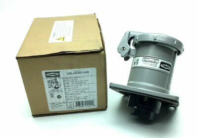 New Hubbell Hbl460Rs1Wr Receptacle 3P4W 60-Amp 250-Vdc 600-Vac 50-400-Hz