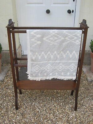 Early 20th Century Antique Mahogany Towel Rail, Quilt Display Stand A