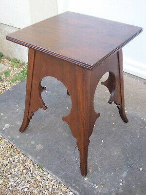 Arts and Crafts Liberty style Moorish Walnut Side Table A