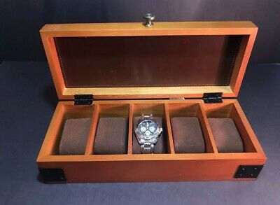 Woodburry Solid Pinewood 5 Piece Watch Box