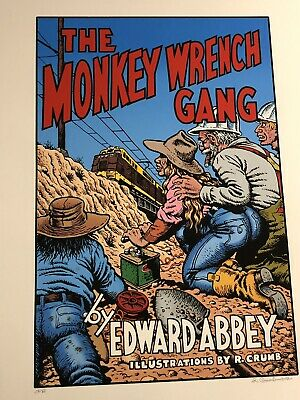 Robert Crumb Signed Print The Monkey Wrench Gang Edward Abbey