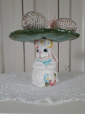59 in x 28 in Easter Bunny Hand-Painted Cafe Net Curtain L:150 x W:70 cm