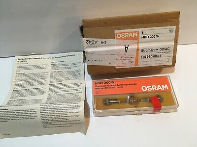 OSRAM HBO 200W Short Arc Lamp Made in Germany