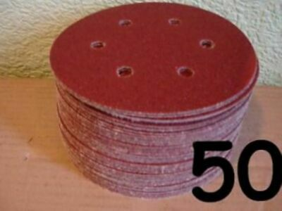 "150mm 6 INCH 6"" SANDING DISCS PADS SANDPAPER SHEETS ""FOR"" VELCRO 40 - 1000 GRIT"