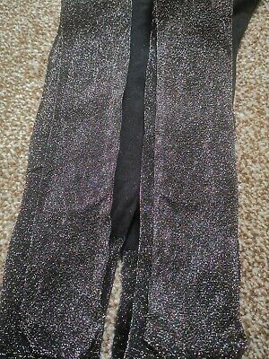 new Girls NEXT glittery shimmery Black  party Tights 9-10 YEARS - BNWOT