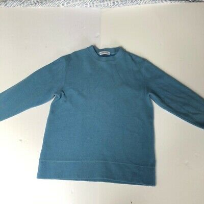 Vintage Stone Island Blue Knitted Pull Over Sweatshirt Sweater Jumper A/W 2,000