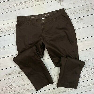 Lee Sinfully Soft Pants Size 18W Womens Brown Khakis Chinos Straight Leg Stretch