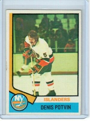 1974-75 Topps Hockey - DENIS POTVIN - ROOKIE Card #195 - EX - Islanders