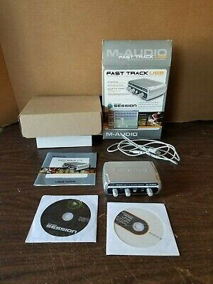 M-Audio Fast Track Guitar Microphone Recording USB Digital Interface Software