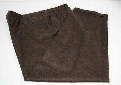 Vito Rufolo Men's Slacks Sz 46 Merino Wool Pants Pleated Brown Italy Career