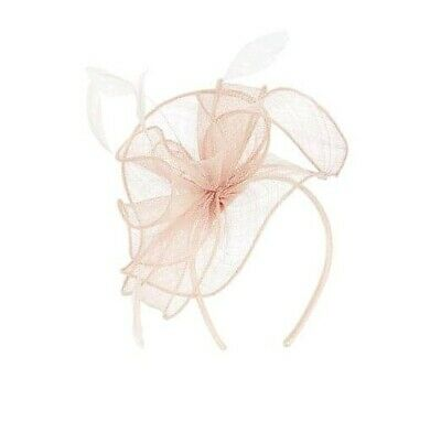 BNWT COAST Cora Small Headband Feather Fascinator Blush Pink In Box £39