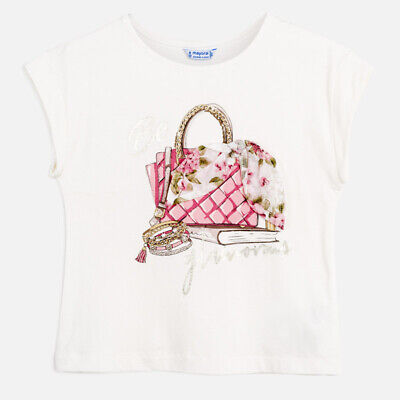 New Girls Mayoral Short Sleeved T-Shirt With Print, Age 8 Years , (6002)