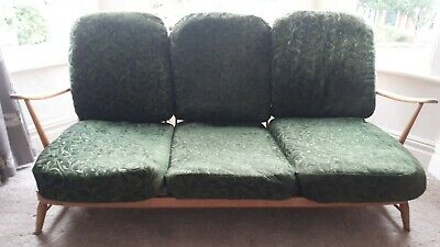 Vintage Ercol Windsor 203 3 seat Sofa Mid Century with cushions