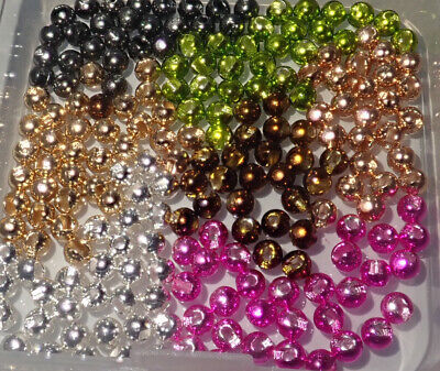 Slotted Tungsten Fly Tying Beads, Choice of sizes and colours