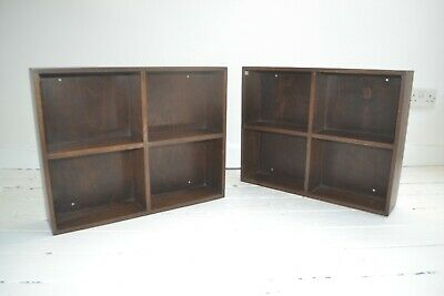 Stunning Pair Vintage Phoenix Gallery Wall Bookcases