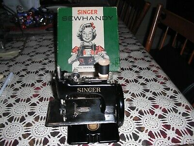 Nm Rare Antique Vintage Singer 20 Sewhandy Toy Small Child Sewing Machine 1950S