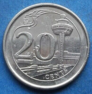 SINGAPORE - 20 cents 2013 KM# 347 Independent since 1965 - Edelweiss Coins .