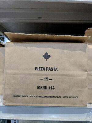 Pizza Pasta- Canadian Army Rations IMP MRE 2019 (Meals Ready-to-eat)
