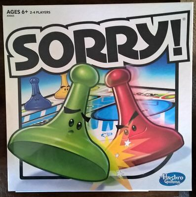 Sorry Board Game 2016 NEW Sealed, Hasbro Kids, Ages 6+, Family Fun Gift