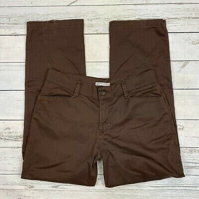 Lee Relaxed Fit Pants Size 12 Womens At The Waist Brown Straight Leg Khaki Chino
