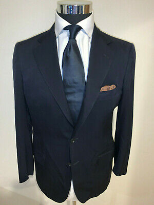 ⭐️ Gianni Campagna Milano Caraceni Navy Blue  Suit 36 Short 36S ⭐️
